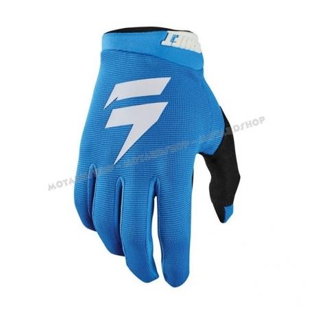 SHIFT WHIT3 AIR blu white guanto motocross enduro quad