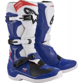ALPINESTARS TECH 3 blu white red stivale motocross enduro