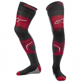 ALPINESTARS KNEE BRACE SOCKS red black gray motocross enduro quad