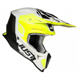 Casco Motocross Just1 J18 PULSAR yellow white black matt Enduro Quad Supermotard