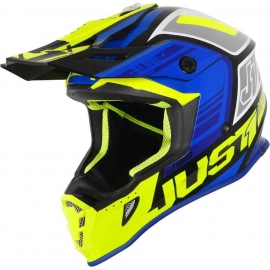 Casco Motocross Just1 J38 BLADE blue fluo yellow gloss Enduro Quad Supermotard