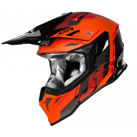Casco Motocross Just1 J39 REACTOR fluo orange gloss Enduro Quad Supermotard