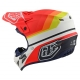 Casco Motocross TROY LEE DESIGNS SE4 ECE in compisito KTM MIRAGE bianco arancio Enduro Quad