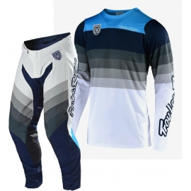 Completo Motocross Troy Lee Designs SE PRO MIRAGE 2010 bianco e grigio enduro quad