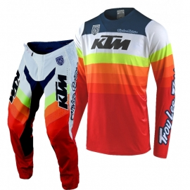 Completo Motocross Troy Lee Designs SE PRO KTM MIRAGE 2010 rosso enduro quad