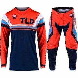 Completo Motocross Troy Lee Designs SE SECA 2020 arancione e nero enduro quad