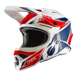 O'neal Casco 3 SERIES HELMET STARDUST bianco blu rosso casco motocross enduro quad