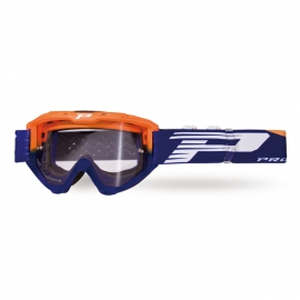 Maschera PROGRIP 3450 RIOT arancio fluo lente fotocromatica motocross enduro mtb