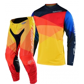 Completo Motocross Troy Lee Designs GP AIR JET 2020 giallo arancio enduro quad