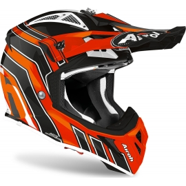 CASCO AIROH AVIATOR ACE ART orange gloss motocross, enduro quad