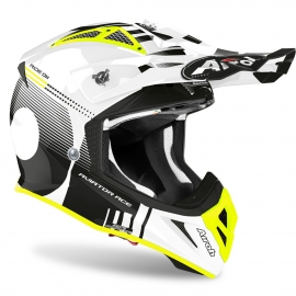 CASCO AIROH AVIATOR ACE NEMESI white gloss motocross, enduro quad