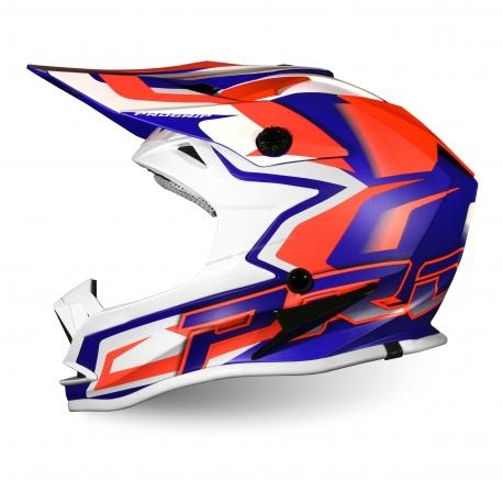 PROGRIP MX 3009 AP71 bambino arancio blu casco motocross enduro quad
