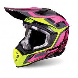 PROGRIP MX 3180 AP71 nero fuxia casco motocross enduro quad
