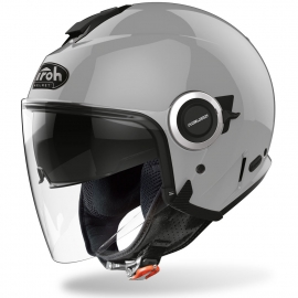 Casco Airoh HELIOS scooter vespa moto grey gloss