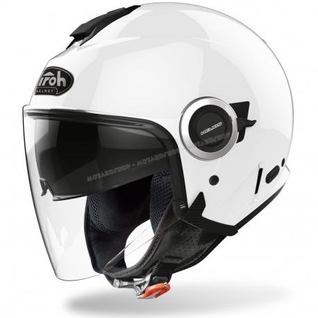 Casco Airoh HELIOS scooter vespa moto white gloss