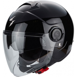 Casco Jet SCORPION EXO CITY nero lucido moto scooter vespa