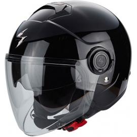 Casco Jet SCORPION EXO CITY nero lucido moto scooter vespa
