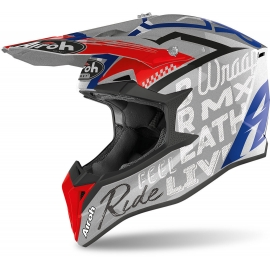 CASCO AIROH WRAAP STREET grey metal motocross, enduro