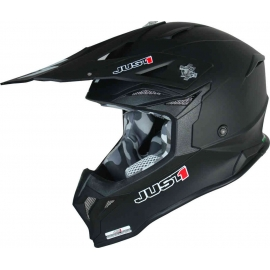 Casco Motocross Just1 J39 SOLID nero opaco Enduro Quad Supermotard