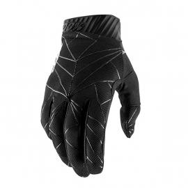 GUANTO 100% RIDEFIT nero e bianco motocross Enduro Cross mtb