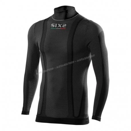SIXS MAGLIA MANICA LUNGA LUPETTO Carbon Underwear nera carbon