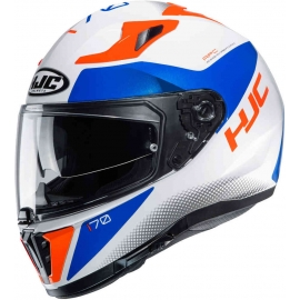 Casco integrale HJC i70 TAS bianco blu red moto da strada scooter