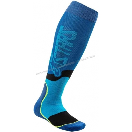ALPINESTARS MX 2 PLUS calza blu ciano motocross quad enduro