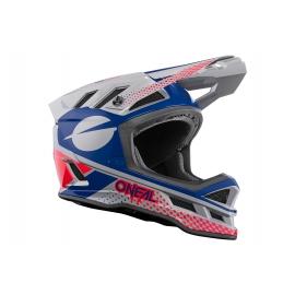 O'NEAL Casco BLADE ACE grigio blu rosso Downhill Enduro Mtb Dh