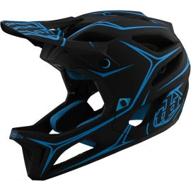 Casco TROY LEE DESIGNS STAGE PINSTRIPE black cyan Enduro Downhill Mtb