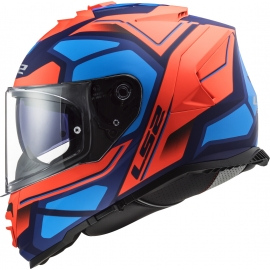 Casco LS2 FF800 STORM FASTER red blue moto da strada scooter