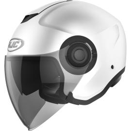 Casco JET HJC i40 semi flat white moto da strada scooter