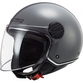 Casco jet LS2 OF558 Sphere LUX nardo grey  Moto Scooter