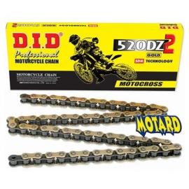 DID 520 DZ2 GOLD & BLACK catena 120 MAGLIE motocross enduro