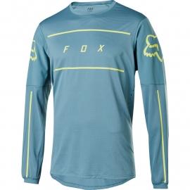 Maglia manica lunga FOX FLEXAIR FINE LINE collezione 2020 azzurra Downhill ENDURO MTB