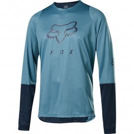 Maglia manica lunga FOX DEFEND FOXHEAD collezione 2020 azzurra  blu Downhill ENDURO MTB