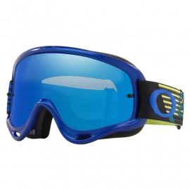 Maschera Motocross OAKLEY O Frame CIRCUIT lente specchiata blu Enduro Mtb Dh