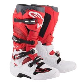 ALPINESTARS TECH 7 stivale bianco rosso scuro motocross enduro quad