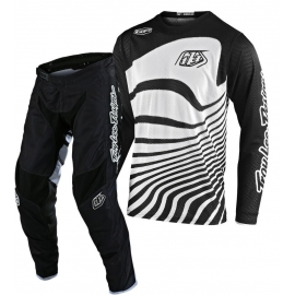 Completo Motocross Troy Lee Designs GP Air DRIFT 2020 black white Enduro Quad