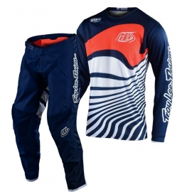 Completo Motocross Troy Lee Designs GP Air DRIFT 2020 navy orange Enduro Quad