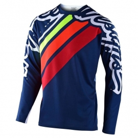 TROY LEE DESIGNS SPRINT SECA 2.0 maglia manica lunga navy red mtb enduro dh