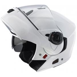 Casco Modulare Airoh Rides RD14 bianco lucido doppia visiera moto strada