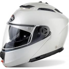 Casco Modulare AIROH PHANTOM-S bianco lucido doppia visiera moto strada