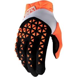 GUANTO 100% AIRMATIC arancio nero motocross enduro quad