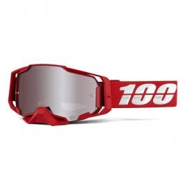 100% ARMEGA WAR RED lente specchiata hyper argento maschera Motocross Enduro Mtb Dh
