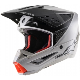 Casco ALPINESTARS SM-5 RAYON grigio bianco nero motocross quad enduro