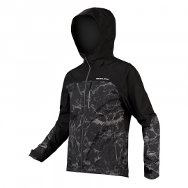 ENDURA SINGLETRACK WATERPROOF GIACCA  nero e camo antipioggia e antivento mtb dh enduro