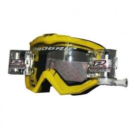 MASCHERA MOTOCROSS Progrip 3201 CON ROLL OFF bianca DH ENDURO