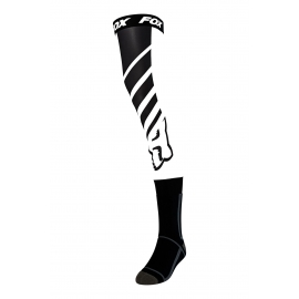 FOX MACH ONE Knee Brace bianco nero calza lunga motocross enduro quad