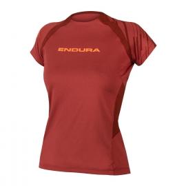 ENDURA  SINGLETRACK maglietta donna manica corta rosso mattone mtb enduro dh