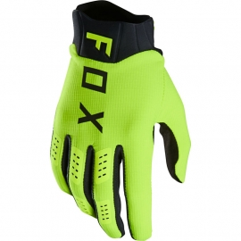 FOX Flexair Guanto nero e giallo fluo Motocross Enduro Quad